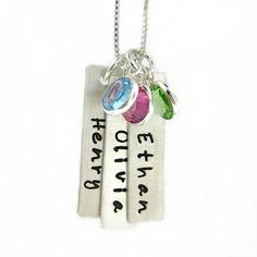 I need to find these long metal pieces!  Want to make some stamped metal necklaces like this