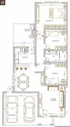 Casa 3 Quartos - 115m²                                                                                                                                                                                 Mais