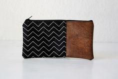 Universaltäschchen - Kleine Tasche - Zickzack - ein Designerstück von niemalsmehrohne bei DaWanda