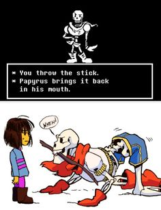 Undertale, Frisk and Papyrus