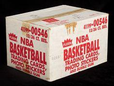 Case of 86-87 Fleer containing up to 40 Jordan rookie cards heading to auction - Michael Jordan Cards Hakeem Olajuwon, Karl Malone, Patrick Ewing, Kareem Abdul Jabbar, Magic Johnson, Larry Bird, Basketball Cards, Bubble Gum, Michael Jordan