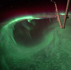 Astronaut Steve Swanson posted this image of auroras below the International Space Station to Instagram on Aug. 27, 2014. Credit: Steve Swanson/ISS