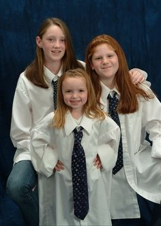 picture of kids in daddy's shirts/ties for fathers day