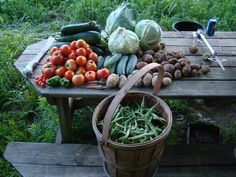 fresh produce ~ one of the pleasures of country living