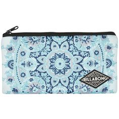 Billabong Serenity Pencil Case ($9.09) ❤ liked on Polyvore featuring home, home decor, office accessories, bleached aqua, billabong, zipper pencil case, colored pencils, zip pencil case and coloured pencils