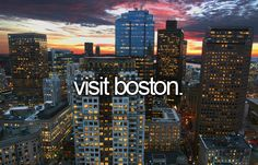 I pinned this to my bucket list a long time ago but now I live in Boston! I am loving it so far :D