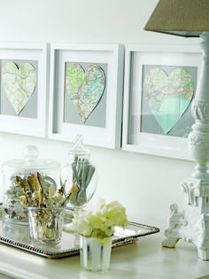 Buy a vintage map (or just print one) frame favorite destinations.