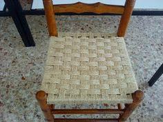 Cadira cordada: 7 passades llargues + 5 passades curtes