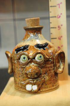 Stoneware Pottery Face Jug.