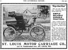 1901 Stanhope by St. Louis Motor Carriage Co. 1211 N. Vandeventer Ave., St. Louis, MO