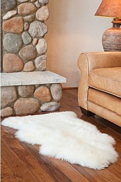 Our Single Australian Sheepskin Rug with Long Wool is made of lustrous, 2.56  $89.00