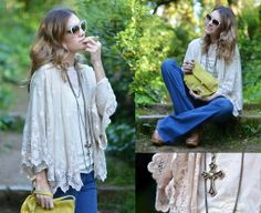 LACE JACKET + FLARE JEANS (by Mireia MDS) http://lookbook.nu/look/3419019-LACE-JACKET-FLARE-JEANS