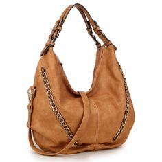 Dasein Soft Water Wash Vintage Dual Handle Hobo Bag, Women's