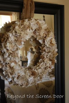 Shaggy Fabric Wreath Tutorial & Giveaway | Beyond the Screen Door