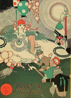 iL Illustration cover by José Carlos (1884-1950), Jan. 1, 1927, Para Todos…, # 420, Brazil.