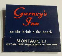 Gurneys Inn Feature Matchbook Montauk Long Island NY Beach Resort Timeshare Vtg | Collectibles, Paper, Matchbooks | eBay!