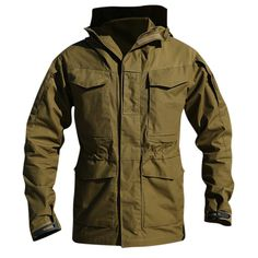 4b93d523e360a UK US Army Clothes Casual Tactical Windbreaker Men Winter Autumn Waterproof Flight  Pilot Coat Hoodie Military Field Jacket Material  Polyester Cotton ...