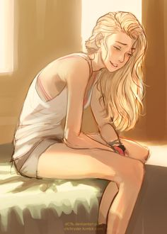 wait, is this... Calypso? or... Annabeth? well, whoever it is, hopefully theyll still be able to smile after BoO
