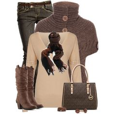 Chocolate by mssgibbs on Polyvore featuring polyvore, fashion, style, Chloé, moovy, Crafted, Diba, MICHAEL Michael Kors, Roots and Oska