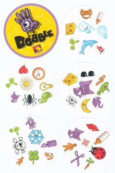 Dobble game sheme- a good start point to edit a thematic Dobble game (eg. for Halloween or a thematic bd party)