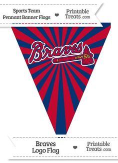 Atlanta Braves Pennant Banner Flag from PrintableTreats.com