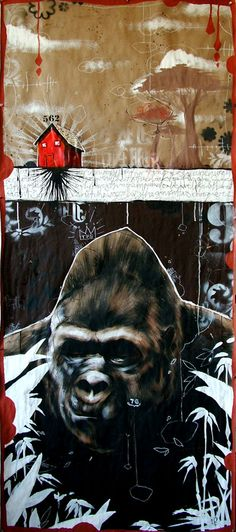 guerillas in the fist, by Blaine Fontana Harry And The Hendersons, Ap Studio Art, Retro Arcade, Art Programs, Illustration Art, Design Illustrations, Guerrilla, Artist Painting, Art Studios