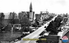 Zoetermeer: De Stationsstraat omstreeks 1950 San Francisco Skyline, Holland, Times Square, Fair Grounds, Travel, Nostalgia, Netherlands, Viajes, The Netherlands