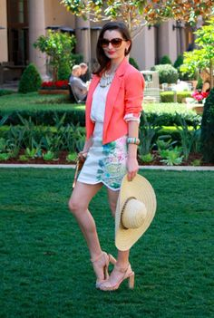 What I Wore to bebe's Girls Who Lunch: bebe blazer #bebe #coral #fashion