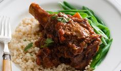 Slow Cooked Moroccan Lamb Shanks