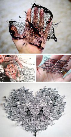 WOW! Paper cutting art.