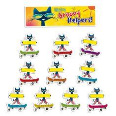 Pete the Cat Groovy Classroom Jobs Mini Bulletin Board (EP348)