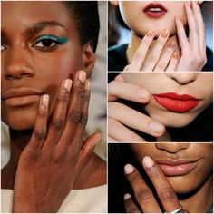 The ombre nude mani in the upper right looks awesome.