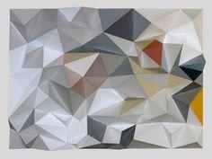 Triangle paper sculpture - Tai's