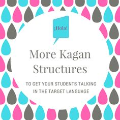 I wrote a post last year about how I use Kagan structures in my classes . I also use Rally Coach. After some refresher sessions and observi. Instructional Strategies, Teaching Strategies, Teaching Ideas, Spanish Teacher, Teaching Spanish, Kagan Structures, Teach Like A Champion, World Language Classroom, How To Speak Spanish