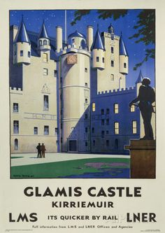 Glamis Castle Vintage Style Travel Poster Masterdruck bei AllPosters.de