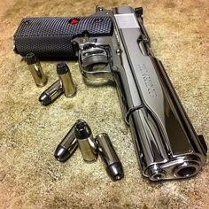 "Colt Delta 10MM Source: boss-of-the-plains: ""Shiny and chrome "" WITNESS ME!"
