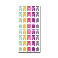 40 Work Out // Die-Cut Stickers (Perfect for Erin Condren Life Planners) ** You can customize in the colors of you choice **