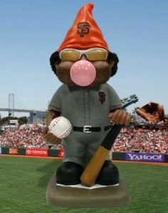 San Francisco Giant Pablo Sandoval blowing bubble gnome bobblehead . I have this one :)