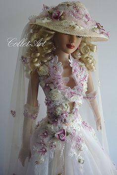 "Tonner American Model OOAK fashion ""Barely a Whisper"" Collet-Art Pretty Dolls, Beautiful Dolls, Beautiful Women, Barbie Clothes, Barbie Dolls, Barbie Mode, Art Dolls, Paper Dolls, Barbie Princess"