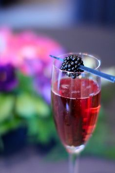 Ever tried Cham-Cham? Champagne with Chambord. Pretty tasty!