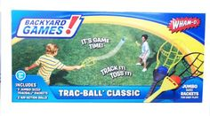 Wham-O Trac Ball Racket Game - - Product Description: With over 50 years of heritage behind us and over 200 products that appeal to people of all ages, the Wham-O® brand is synonymous with Office Party Games, Adult Party Games, Adult Games, Fun Games, Hoop Games, Camping Games For Adults, Outdoor Games Adults, Water Games For Kids, Engagement Party Games Printables
