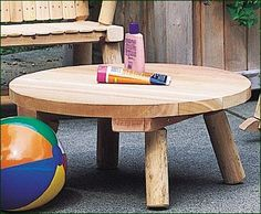 "Child's Wiscasset Table -  24"" dia. with 11"" from floor to table top. Shipped kit."