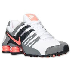 Women's Nike Shox Current Running Shoes | Finish Line | White/Bright Mango/Cool Grey