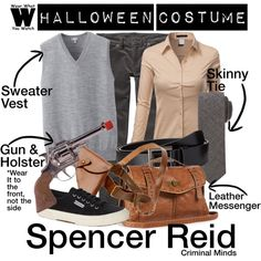 A Halloween Costume how-to inspired by Matthew Gray Gubler as Dr. Spencer Reid on Criminal Minds.