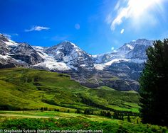 The Jungfrau World Heritage site.  A cog railway takes you to the peak, where you can visit the ice palace built in the glacier and take in the scenery from the lookout deck. Possibly heaven on earth… you decide.