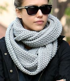 Chunky grey scarf - love it