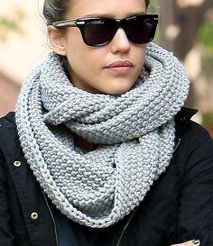 Chunky grey scarf - love it