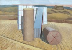 Paul Nash, Equivalents for the Megaliths 1935 - Oil on canvas - Tate Gallery