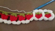 Çilek Motifi Nasıl Örülür? Videolu Anlatım  #çilekmotifi #lif #tığ #örgü #kendinyap Crochet Borders, Crochet Squares, Easy Crochet Patterns, Crochet Motif, Crochet Doilies, Crochet Flowers, Crochet Lace, Crochet Stitches, Crochet Girls