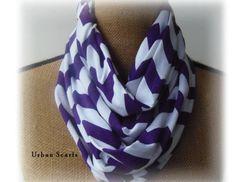 Chevron Infinity Scarf  Purple Scarve  Purple by UrbanScarfs